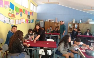 Estudiantes de Los Loros participaron en experiencias científicas con Académicos de Facultad de Cs. Naturales